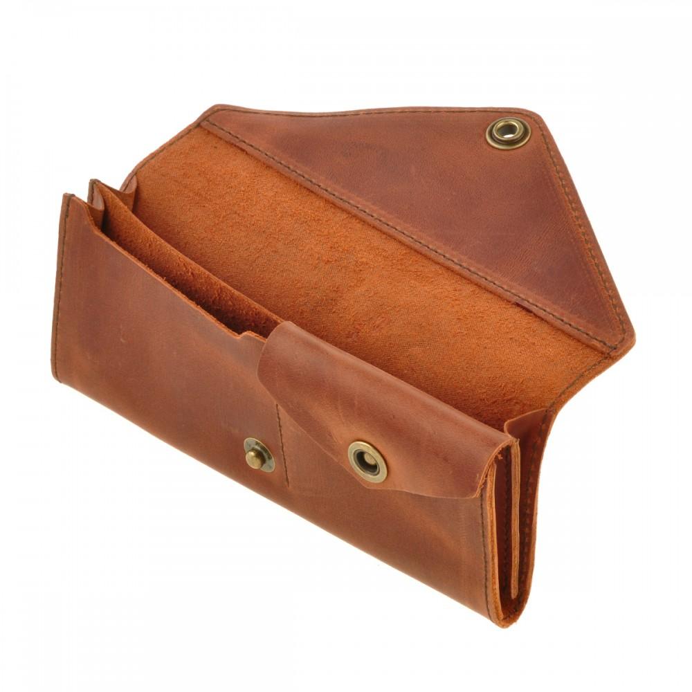2c578ce52c92 Кошелек кожаный 1.0 Коньяк купить недорого подарок женский Киев ...