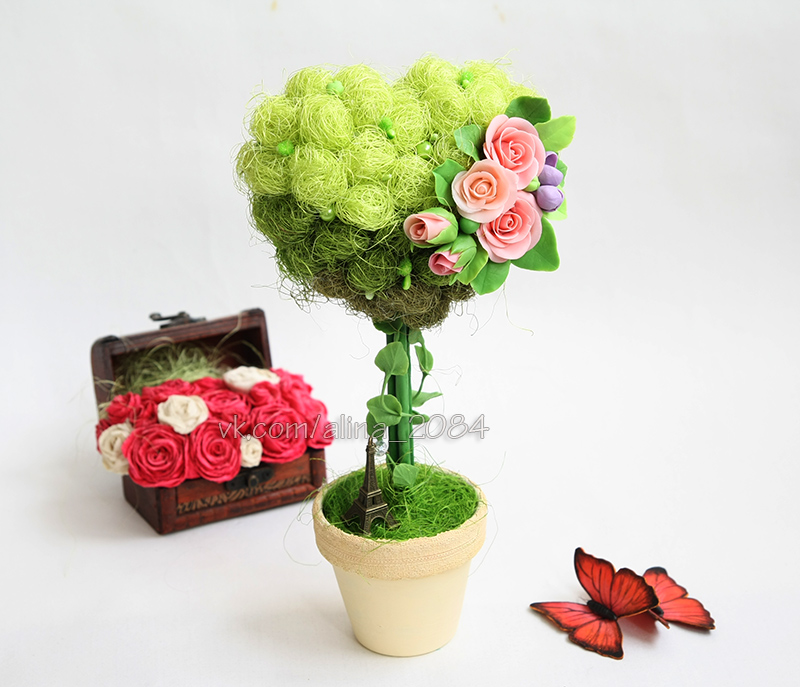 топиарий дерево декор подарок интерьер любовь париж