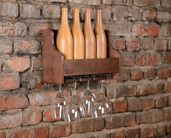 винная полка интерьер дерево вино подарок мужчине