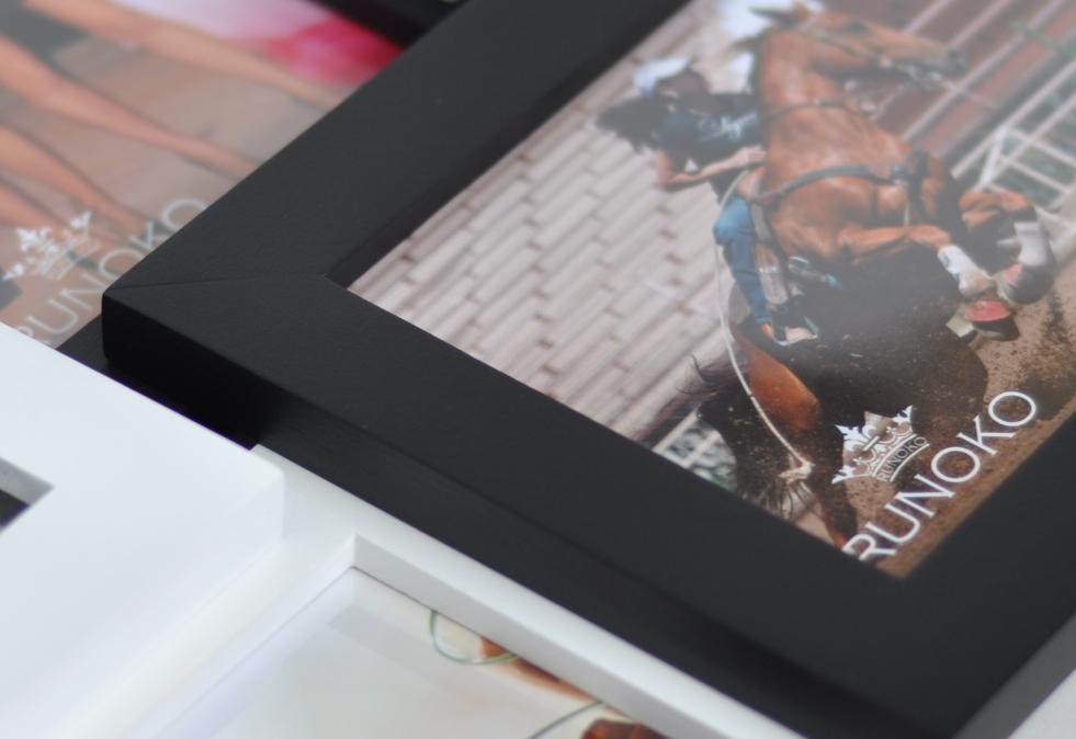 фоторамка коллаж деревянная черно-белая мультирамка Руноко