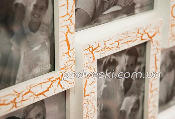 мультирамка белая подарок декор фоторамка коллаж