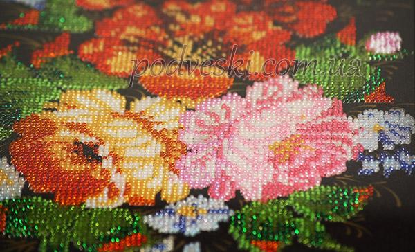 цветы бисером вышивка фото
