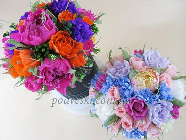 букет конфет купить в коробке, цветы в шляпной коробке