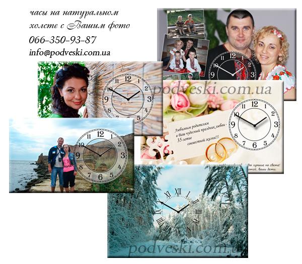часы-картина со своим фото, настенные часы Украина