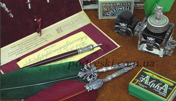 каллиграфия перо перьевая ручка красивый декор украшение дизайн ретро чернило купить
