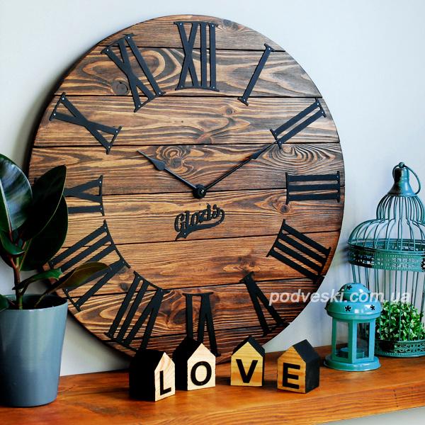 настенные часы деревянные металл купить цена Киев