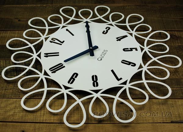 e3627b21 Настенные часы Glozis из металла Romantic White 50 см - podveski.com.ua