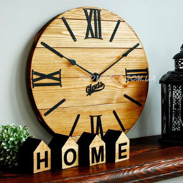 Nevada Gold настенные часы из дерева и металла - подарок для дома, модный декор