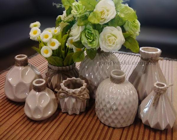 бежевая ваза коллекция набор ваз декор интерьер цена вазы Киев