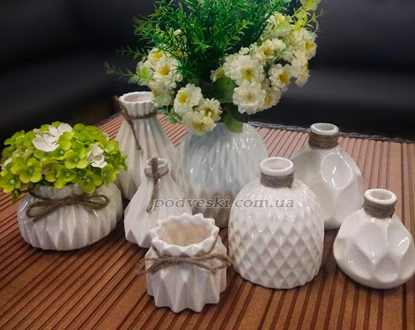 вазы декор вазочки небольшие маленькие керамика в интерьер продажа
