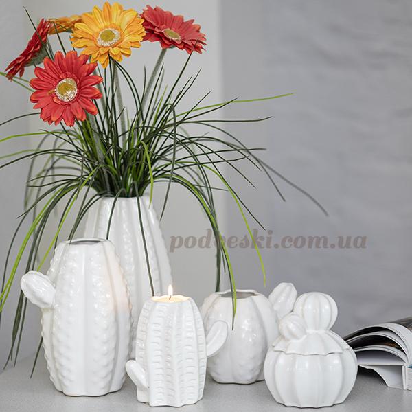 купить декоративную вазу кактус Киев Украина