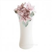 Ваза керамическая Лилии белая 22 см