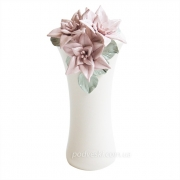 Подсвечник керамический Лилии белая 22 см