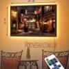 Картина с LED-подсветкой Уютный дворик