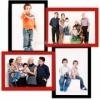 Мультирамка деревянная Руноко 4 фото 20х30 черно-красная