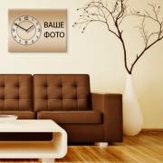 Настенные часы с фото 30x40 см