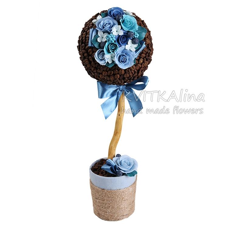 подарок 8 марта  топиарий цветы сердце