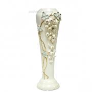 Керамическая ваза Глициния белая 40 см