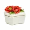 Шкатулка керамическая  Маковый букет