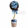 Кофейное дерево, топиарий с розами Бирюзовый сад