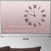 Настенные часы с фото 40x60 см