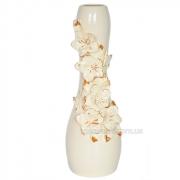 Ваза керамическая напольная Гибискус Барокко беж 48 см