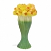 Керамическая ваза Лира Тюльпаны 30 см