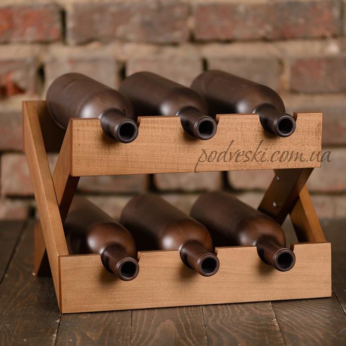 подставка для вина деревянная подарок в интерьер свадебный подарок