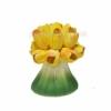 Подсвечник  керамический Лира Тюльпаны 15 см