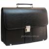 Портфель мужской кожзам черный AMO SST08