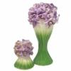 Набор керамический Лира Ирис ваза и подсвечник
