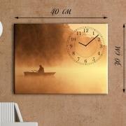 Настенные часы-картина Туманное утро