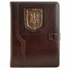 Кожаный блокнот, ежедневник А5 Герб Украины коричневый