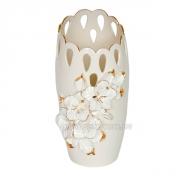Ваза керамическая Гибискус Барокко беж 35 см