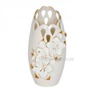 Ваза керамическая Гибискус Барокко беж 28 см