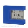 Электронные часы с термометром настольные T-08 синие