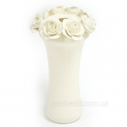 Керамическая ваза белая Розали 22 см