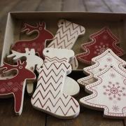 Елочные игрушки деревянные Hабор 3 Сказочный подарок