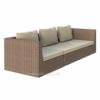 Модульний диван плетений тримісний LAGOON