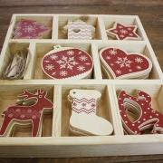 Елочные игрушки деревянные Hабор 4 Душевный