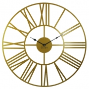 Годинник настінний металевий Glozis Cambridge Bronze 70 см