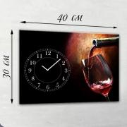 Настенные часы-картина на холсте Вино