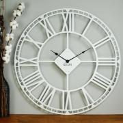Годинник настінний металевий Glozis Oxford White