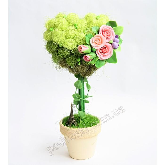 топиарий сердце love подарок девушке на 14 февраля