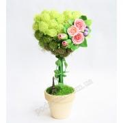 Цветочное дерево-топиарий Сердце в Париже