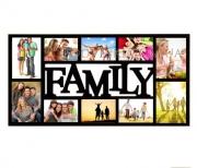 Мультирамка деревянная Family на 10 фото венге