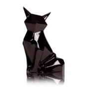 Статуэтка керамическая Лиса Полигональная черная 2506-30