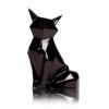 Статуэтка керамическая Лиса Полигональная черная