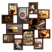 Мультирамка на 12 фотографий Путешествие Мега (Венге)