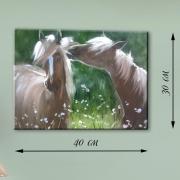 Картина на холсте Лошади в поле
